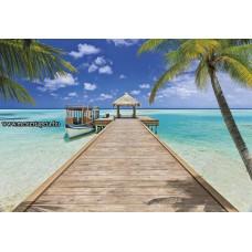 Egzotikus tengerpart poszter 8-921 ingyenes szállítással